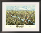 Putnam, Connecticut - Panoramic Map Posters