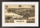 Newport News, Virginia - Panoramic Map Prints