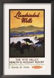 Llandrindod Wells, England - Wye Valley Resort British Rail Poster Prints