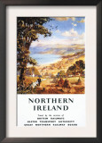 Northern Ireland - Pastoral Scene Man and Dog British Railways Poster Prints