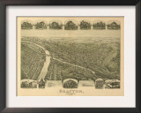 Grafton, West Virginia - Panoramic Map Posters