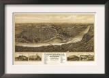 Chippewa Falls, Wisconsin - Panoramic Map Prints