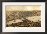 Peoria, Illinois - Panoramic Map Prints