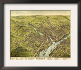Bangor, Maine - Panoramic Map Print