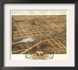 Naperville, Illinois - Panoramic Map Prints