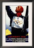 Bavaria, Germany - 1936 Olympic Winter Games Advertisement Poster Art