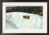 Lake Placid, New York - Riding the Whiteface Curve on the Olympic Bobsled Run Art