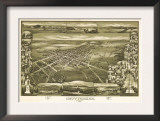 Gettysburg, Pennsylvania - Panoramic Map Prints