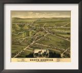 North Berwick, Maine - Panoramic Map Poster