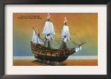 Plymouth, Massachusetts - Model of the Mayflower in Pilgrim Hall View Prints