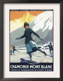 Chamonix Mont-Blanc, France - Ice Skating Posters