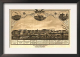 Battle Creek, Michigan - Panoramic Map Prints