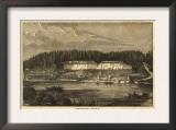 Oregon - Panoramic Map of Oregon City Prints