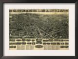 Meriden, Connecticut - Panoramic Map Prints