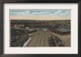 Pocatello, ID - Train Depot Round House & Shops Poster