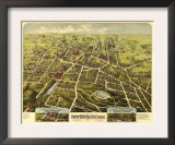 New Britain, Connecticut - Panoramic Map Art
