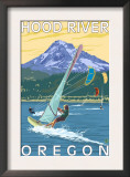Hood River, OR - Wind Surfers & Kite Boarders Prints