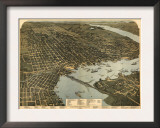 Jacksonville, Florida - Panoramic Map Posters