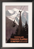 Chamonix Mont-Blanc, France - Funiculaire Le Brevent Cable Car Poster Prints