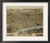 Knoxville, Tennessee - Panoramic Map Print