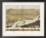 La Crosse, Wisconsin - Panoramic Map Print