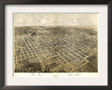 Bloomington, Illinois - Panoramic Map Posters