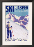 Jasper National Park, Canada - Woman Posing Open Slopes Poster Posters