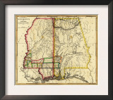 Mississippi and Alabama - Panoramic Map Posters