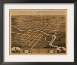 Pontiac, Illinois - Panoramic Map Posters