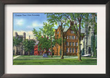 New Haven, Connecticut - Yale University Campus View Prints