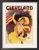 Paris, France - Cleveland Bicycles American Girl in Yellow Promo Poster Posters