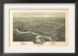 Davis, West Virginia - Panoramic Map Prints