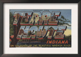 Terre Haute, Indiana - Wabash River Prints