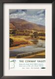 North Wales, England - Conway Valley Scene British Railways Poster Art