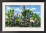 New Haven, CT - View of Harkness Memorial Tower, Dwight Chapel, Yale U Posters