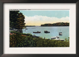 Middletown, Connecticut - View of Boats at the Narrows Poster
