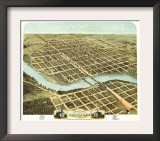 Kankakee, Illinois - Panoramic Map Prints