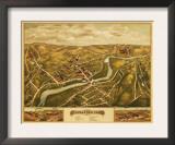 Naugatuck, Connecticut - Panoramic Map Prints