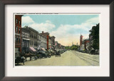 Middletown, Connecticut - Southern View Down Main Street Print