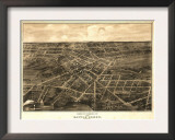 Battle Creek, Michigan - Panoramic Map Poster