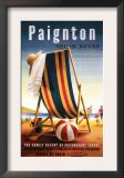 Paignton, England - British Railways Beach Chair and Ball Poster Prints