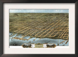 Erie, Pennsylvania - Panoramic Map Poster
