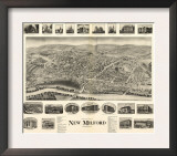 New Milford, Connecticut - Panoramic Map Prints