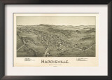 Harrisville, West Virginia - Panoramic Map Prints