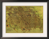 Erie, Pennsylvania - Panoramic Map Prints