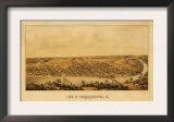 Fredericksburg, Virginia - Panoramic Map Posters