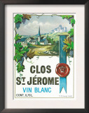 Clos St. Jermoe Wine Label - Europe Posters