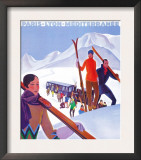 Chamonix Mont-Blanc, France - PLM Railway Promotional Poster Prints