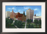 New Haven, Connecticut - View from across the Green Prints