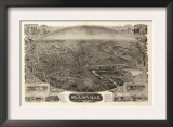 Plainville, Connecticut - Panoramic Map Prints